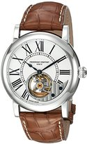 Frederique Constant Men's 'Heart Beat Manufacture' Automatic Stainless Steel and Leather Casual Watch, Color:Brown (Model: FC-930MS4H6)