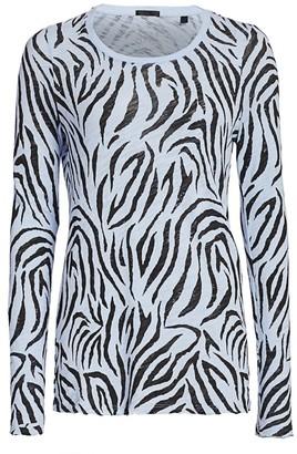 ATM Anthony Thomas Melillo Zebra Print Long-Sleeve Tee