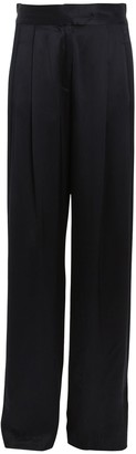 Mason by Michelle Mason Pleated Silk Charmeuse Trousers