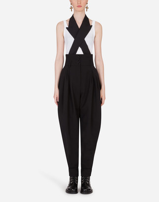 Dolce & Gabbana Stretch Wool Jumpsuit