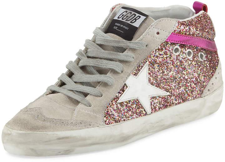Golden Goose Glitter Mid-Top Platform Sneaker