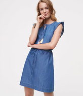 LOFT Tall Chambray Flutter Dress