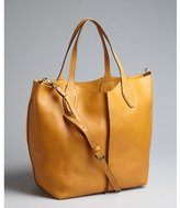 Tod's fox brown leather convertible large tote bag