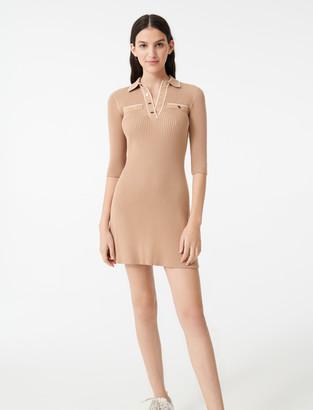 Maje Knit polo dress