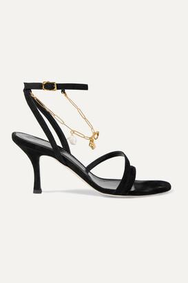 Alighieri The Wondering Traveller Embellished Suede Sandals - Black
