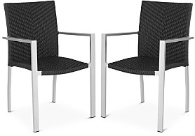 Safavieh Cordova Indoor/Outdoor Stacking Arm Chairs, Set of 2