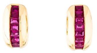 Cartier Vintage Ruby Earclips