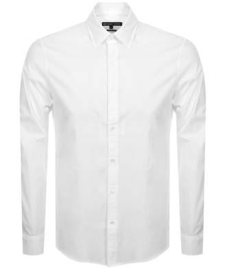 Michael Kors Long Sleeved Logo Shirt White