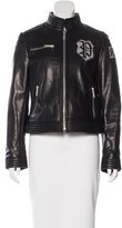 Philipp Plein Leather Embellished Jacket
