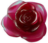 Daum Red Rose Flower Sculpture