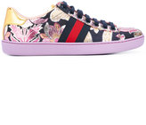 Gucci Ace brocade low top sneakers - women - Leather/Polypropylene/rubber - 36.5