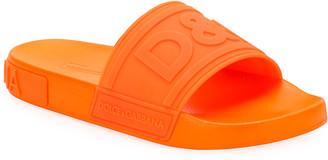 Dolce & Gabbana Logo Rubber Slide Sandals