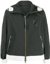 Alexander McQueen monogram print hooded jacket