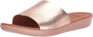 FitFlop Women's Sola Leather Slide Sandal