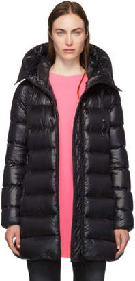 Moncler Black Down Suyen Hooded Coat