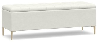 Pottery Barn Anya Tufted Upholstered Storage Bench