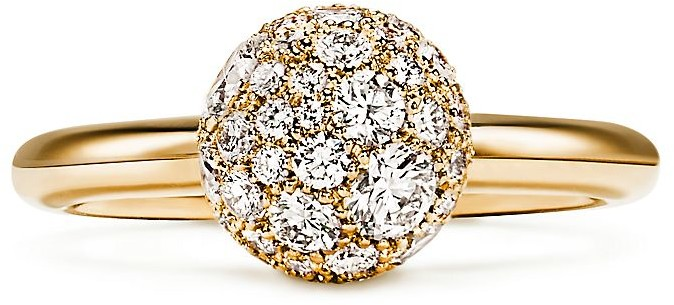 Tiffany & Co. City HardWear diamond ball ring in 18k gold