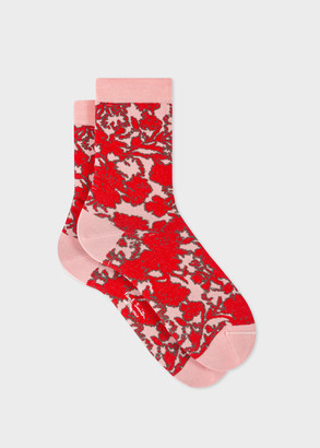 Paul Smith Women's Pink 'Rave Floral' Socks