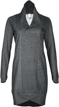 Format POND Dark Grey Sweat Dress - S - Grey/Natural