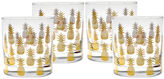 Culver S/4 Pineapple Old-Fashioned Glasses