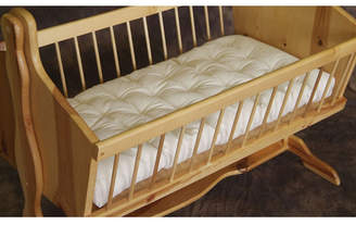 Holy Lamb Organics Natural Wool Bassinet Mattress Encased in Organic Cotton Canvas Bedding