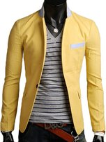 Tidecloth Men's Slim Fit Buttons Up Simple Blazer Jackets