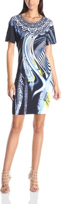 Just Cavalli Women's Leo Hurricane Print Jersey Dress