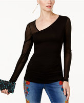 INC International Concepts Asymmetrical Illusion Top, Created for Macy's