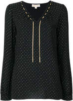MICHAEL Michael Kors chain-trim polka-dot blouse