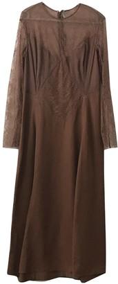 Nina Ricci Brown Lace Dress for Women