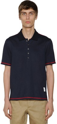 Thom Browne COTTON JERSEY POLO W/ SIDE SLITS