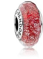 Pandora Red Shimmer Glass Murano Charm 791654