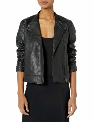 Cupcakes And Cashmere Women's Deana Leather Moto Jacket