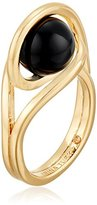 """Trina Turk Psychadelica"""" Caged Ball Gold/Black Ring, Size 7"""