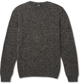 A.P.C. Mélange Wool And Alpaca-blend Sweater - Charcoal