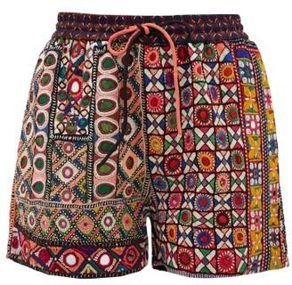 Ashish Mirror-embroidered Shorts - Womens - Multi