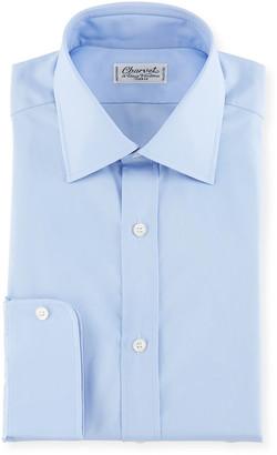 Charvet Poplin Dress Shirt, Blue