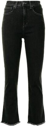 Veronica Beard High-Waist Flared Jeans