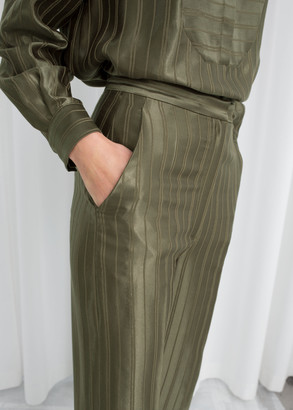 And other stories Tailored Jacquard Stripe Trousers