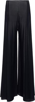 Leal Daccarett Perla Negra Chiffon Wide-Leg Pants
