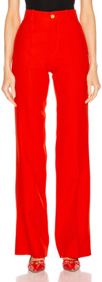 Gucci Flare Pant in Pomegrante Flower | FWRD