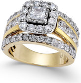 Macy's Diamond Halo Engagement Ring (3 ct. t.w.) in 14k Gold
