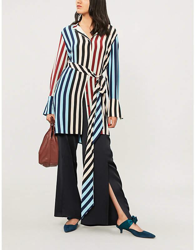 Diane von Furstenberg Tie-front silk shirt dress