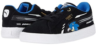 Puma Kids Sega Suede Sonic AC (Toddler) (Black) Boy's Shoes