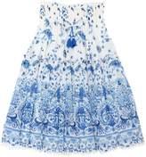 Ermanno Scervino Printed Cotton & Silk Muslin Long Skirt