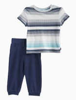 Splendid Baby Boy Jersey Stripe Top with Pant Set