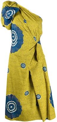 Ulla Johnson one shoulder draped detail Idra dress