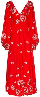 All Things Mochi Catalina floral embroidered maxi dress