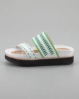 Nanette Lepore Chi Chi Runway Footbed Sandal, White