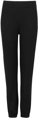 Rag & Bone Black Ribbed Jersey Sweatpants